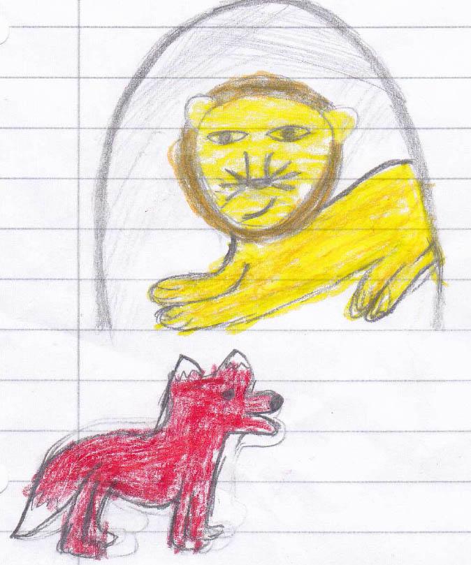 löwe und fuchs