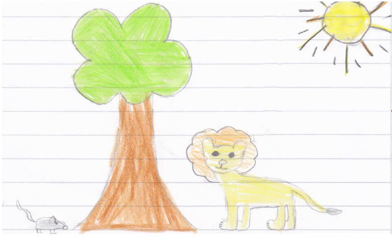 löwe und rennmaus